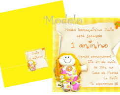 Convite Boneca Amarelo