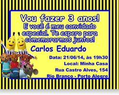 Bananas De Pijamas Convite Anivers�rio
