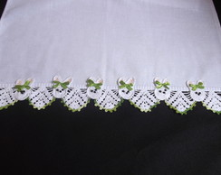 croch� coelhinhos verde