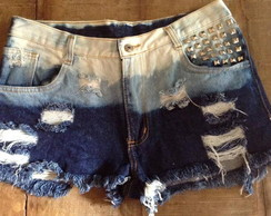Shorts Hot Pants jeans Ombre, destroyed
