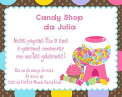 Convite Digital CANDY SHOP