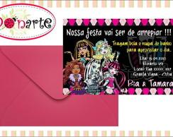 Convite Anivers�rio Monster High