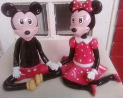 Mickey e Minnie Topo de bolo em Biscuit