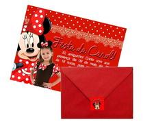 Convite com envelope e etiqueta + brinde