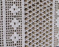 cortina tecida em crochet file