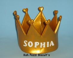 Topo de bolo coroa princesa