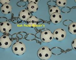 Chaveiros bola de futebol biscuit