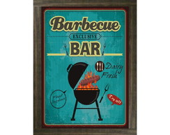 Quadro Moldura Barbecue Bar - 672
