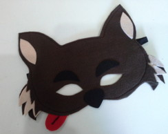 mascara lobo mau em feltro