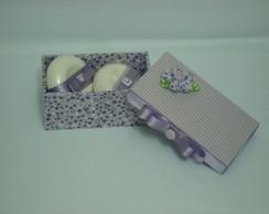 Kit caixa mdf e 02 sabonetes Natura