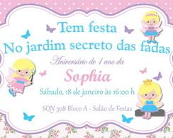 Convite Proven�al Fada Fadinha Floral