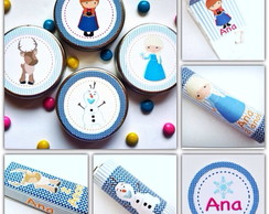 Kit Festa R�tulos - Frozen