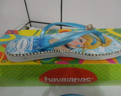 Havaianas Slim Princesas Customizada