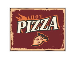 Placa Mdf Retr�  Hot Pizza - 723