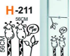 Adesivo de geladeira girafas