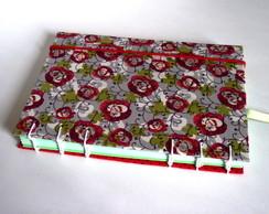 Caderno Artesanal Vermelho e Verde