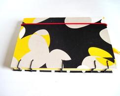 Caderno Artesanal Amarelo e Preto