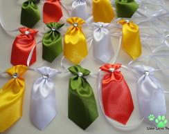 30 Gravatas Pequena Simples (Amar. Fita)