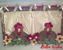 cortina de galinhas para a churrasqueira