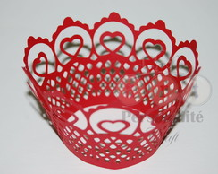 Wrapper Cupcake Rendado Cora��o