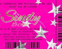 Convite Ticket- 15 Anos
