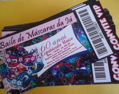Convite Ingresso Baile de Mascaras