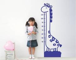Adesivo de parede girafa metrica r�gua