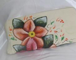 sacola vira carteira de flores