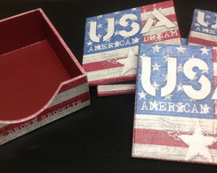 Porta copos USA
