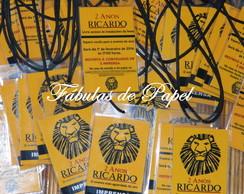 Convite Credencial Festa Rei Le�o