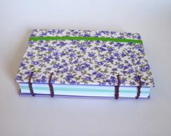 Caderno Floral Roxo
