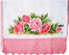Pano de Prato com Rosas
