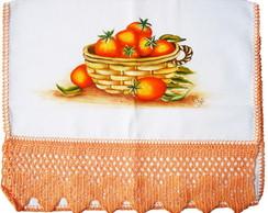 Pano de Prato com Cesta de Tomates