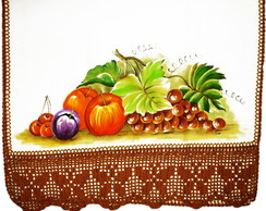 Pano de Prato Pintado com Frutas