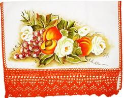 Pano de Prato com Flores e Frutos