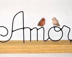 Escultura Amor 2 passarinhos
