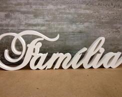 FAM�LIA Palavras Decorativas De Madeira