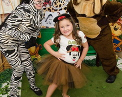 Conjunto Tutu Minnie Safari