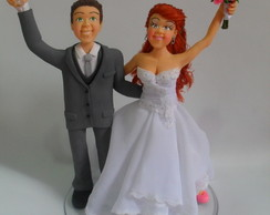 Estilo humanizado -Noivos felizes