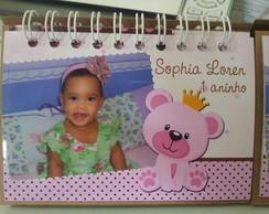Calendario Urso Marrom e rosa 2014