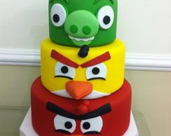 Bolo cenogr�fico Angry Birds