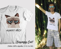 Camiseta Grumpy Cat - Divertida