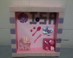 Quadro porta de maternidade em mosaico