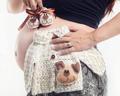Kit Casaco e Sapato Croch� Cachorro Fofo