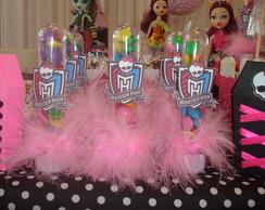 Tubetes decorados tema Monster High