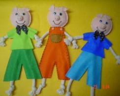 Tr�s Porquinhos - Bonecos -