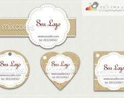 Kit Tags - Etiquetas Com Design Mod40