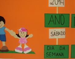 Cartaz calend�rio Sala de Aula