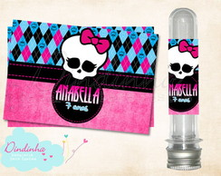 R�tulo Tubete - Monster High