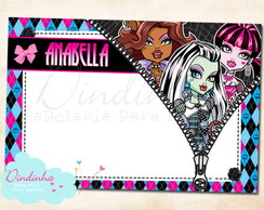 Cart�o de Recados - Monster High